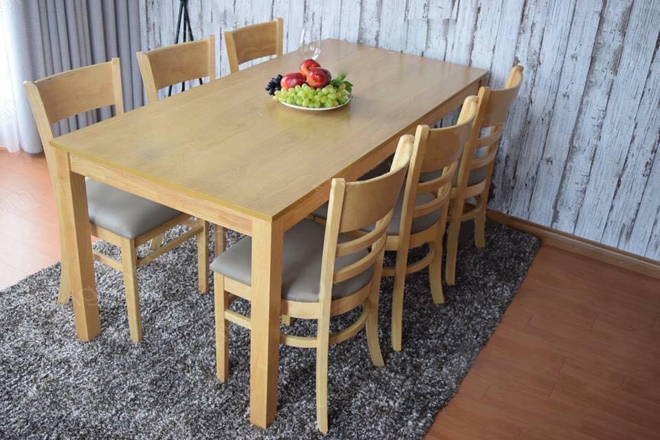 bàn ăn cabin 6 ghế vàng giá rẻ