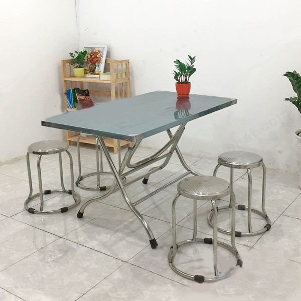 bàn ăn inox 4 ghế giá rẻ
