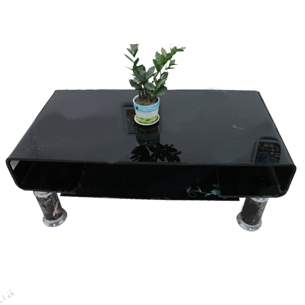 bàn kính sofa cong đen giá rẻ