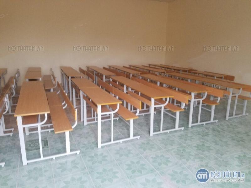 bàn học sinh liền ghế tựa lưng giá rẻ