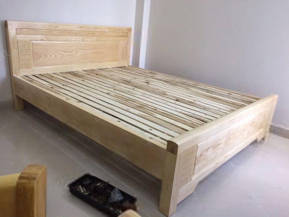 giường gỗ sồi giá rẻ