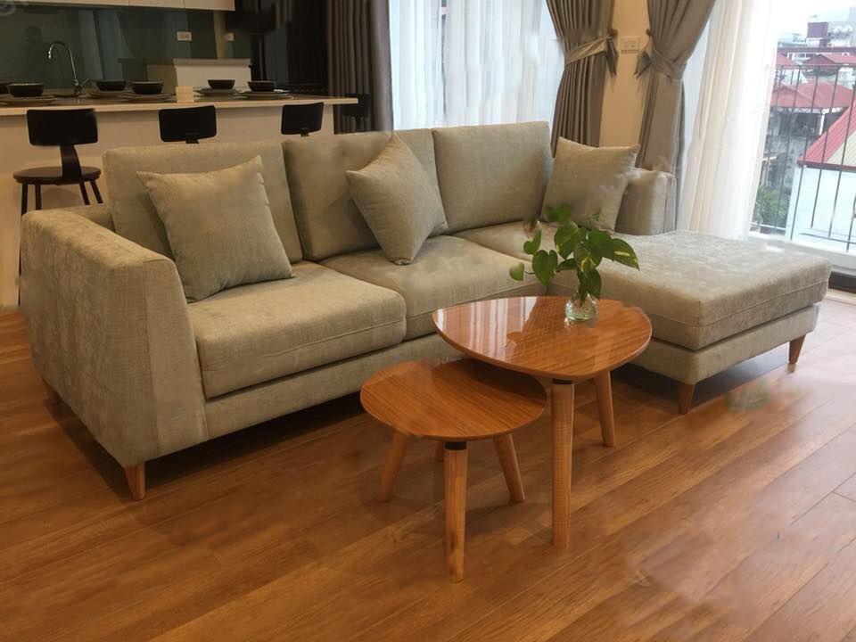 sofa nỉ thông minh vàng nhạt thanh lý