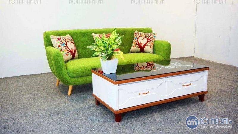 sofa văng xanh nõn chuối giá rẻ
