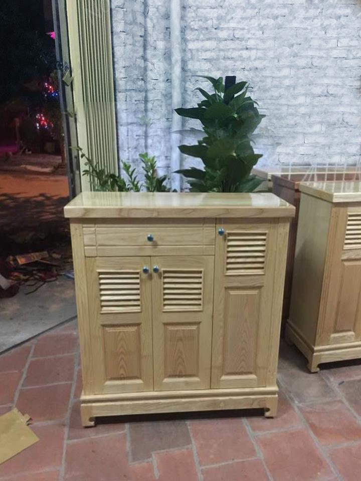tủ giày thanh lý 3 cánh gỗ sồi