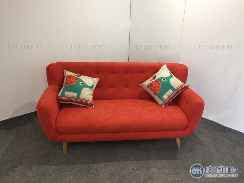 thanh lý sofa văng màu cam