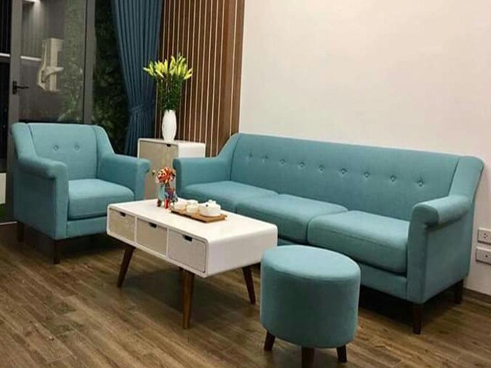 sofa văng cổ điển giá rẻ màu xanh