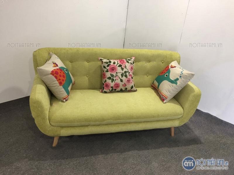 sofa văng màu vàng chanh thanh lý