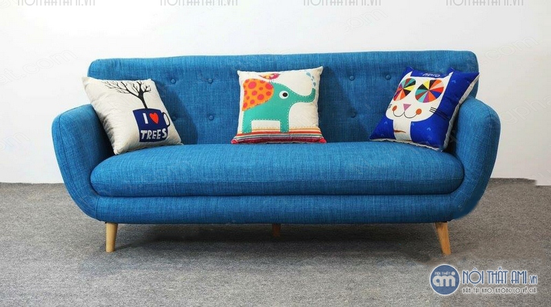 sofa văng nỉ xanh nước biển giá rẻ
